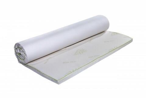 Topper saltea Aloe Vera Therapy Memory Arctic Gel 7 zone de confort, Green Future, 160x190 cm