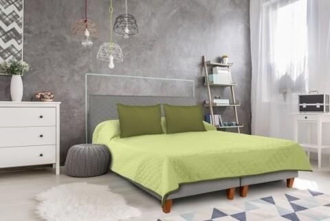 Cuvertura cu 2 fete Alcam, 100% poliester, 220 x 240 cm, Olive/Lime